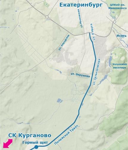 Выезд из Екатеринбурга